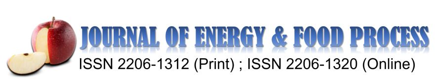 Journal of Energy and Food Processing